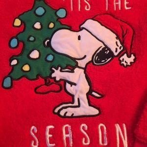 "Peanuts Tops - Peanuts ""Tis the Season"" Snoopy Sweatshirt Small"
